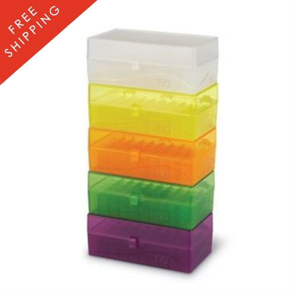 plastic 50 well freezer boxes