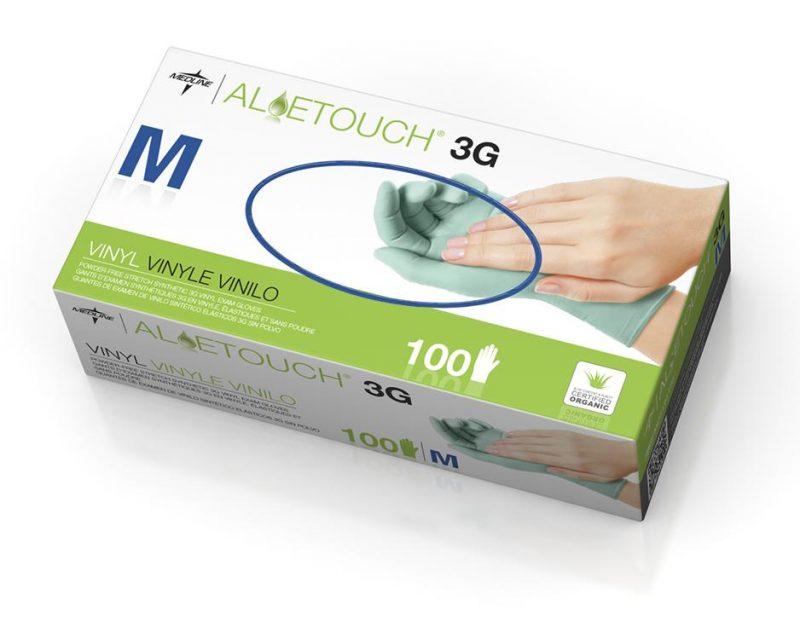 medline gloves-aloetouch-nitrile