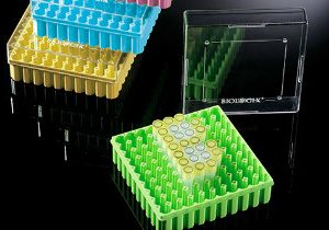 2 Height Case of 100 81 Places Biologix 90-2281 Cardboard Plasti-Coat Laminated Microcentrifuge Tube Freezer Storage Box